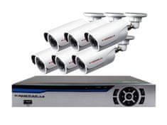 KAMERAK.cz 6 kamerový set AHD HE6EL-1080p 2Mpx, CZ menu