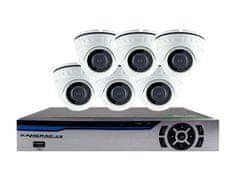 KAMERAK.cz 6 kamerový set AHD HE6MD5 5Mpx H.265, CZ menu