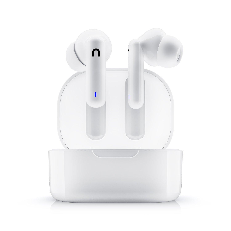 Bluetooth 5.0 slúchadlá niceboy hive pins nabíjací box celkom 18 h prevádzky na nabitie 4 h prevádzky ipx4 odolnosť voči vode dotykové ovládanie na slúchadlách podpora hlasových asistentov handsfree mikrofón