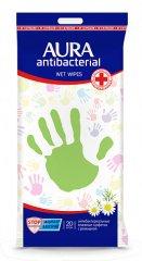 AURA Aura vlhčené antibakteriální ubrousky 20ks