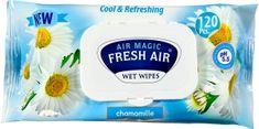 Fresh Air Dětské vlhčené ubrousky 120 ks klip Heřmánek modrý
