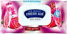 Fresh Air Dětské vlhčené ubrousky 120 ks klip Rose Garden