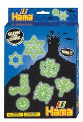 Hama korálky Dárkový box svítící ve tmě Midi