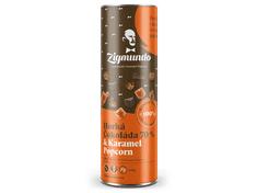 ZIGMUNDO Horká Čokoláda 70% & Karamel Popcorn 250g tubus