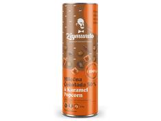 ZIGMUNDO Mliečna Čokoláda 50% & Karamel Popcorn 250g tubus