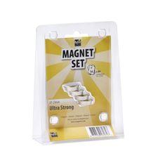 MagPaint Magneti Neodim ultra močni ᶲ23mm srebrni 4/1