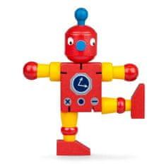 Drevený ohybný robot, červeno-žltý