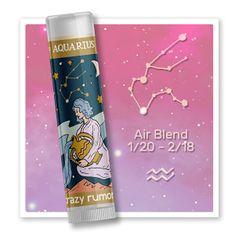 Crazy Rumors Balzam na pery Zodiac - Vodnár (Lip Balm) 4,4 ml