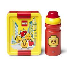 LEGO Lunch ICONIC Girl svačinový set (láhev a box) - žlutá/červená
