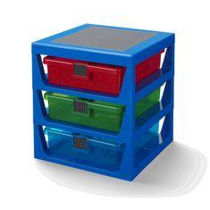 LEGO Storage organizér se třemi zásuvkami - modrá