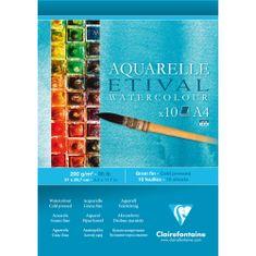 Clairefontaine blok za risanje akvarela Etival, A4, 10l, 200g
