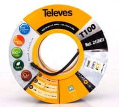 Televes Koaxiální kabel venkovní celoměděnný 7 mm s UV ochranou