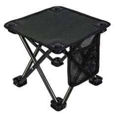 King Camp Kempingová skladacia stolička - čierna