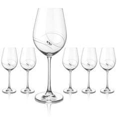 Diamante Atlantis šesť veľkých pohárov na červené víno