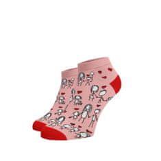 BENAMI Veselé kotníkové ponožky Děkuji mami Světlé růžová Bavlna 35-38