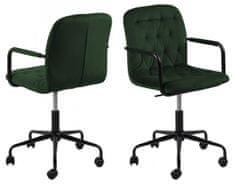 Design Scandinavia Kancelářská židle Wendy, tkanina, tmavě zelená