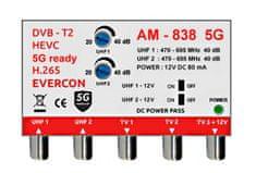 EVERCON Anténní zesilovač AM-838 5G bez napájecího zdroje