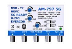 EVERCON Anténní zesilovač AM-797 5G bez napájecího zdroje