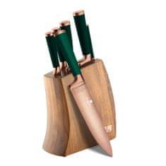Berlingerhaus zestaw noży w drewnianym bloku Emerald Collection, 7 szt.