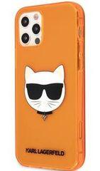 Karl Lagerfeld TPU Choupette Head Kryt pro iPhone 12 Pro Max 6.7 Fluo Orange KLHCP12LCHTRO