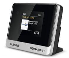 Technisat DIGITRADIO 10 C, stříbrná/černá