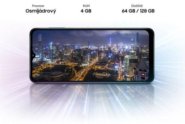 Samsung Galaxy A12 velké úložiště 64GB/128GB pamět prostorná paměť telefonu