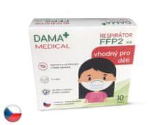 Dama Trade s.r.o. 10x Český respirátor FFP2 vhodný pro děti - bílý (13,9 Kč/ks)