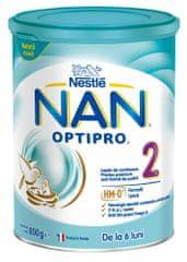 NAN Optipro 2 nadaljevano mleko za dojenčke, 800 g
