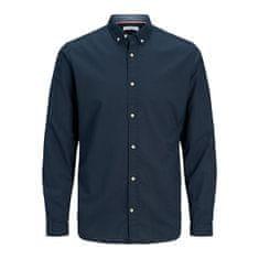 Jack&Jones Pánska košeľa JJESUMMER Slim Fit 12163855 Navy Blazer