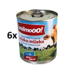 milmooo! Zahustené sladené mlieko plnotučné 397 g, 6ks