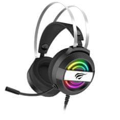 Havit Gamenote H2026d gaming slušalke USB + 3.5mm, črna