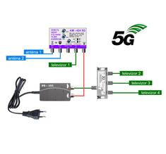EVERCON anténní set 20 dB pro 4 TV 424-101-4