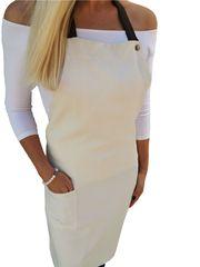 Gasoil Fashion nešpinivá zástěra smetanová barva poutka: hnědá
