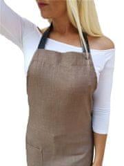 Gasoil Fashion nešpinivá zástěra kávová barva poutka: hnědá