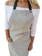 Gasoil Fashion nešpinivá zástěra světle šedá barva poutka: hnědá