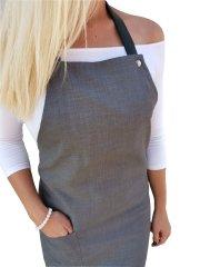 Gasoil Fashion nešpinivá zástěra tmavě šedá barva poutka: hnědá