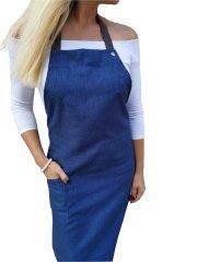 Gasoil Fashion nešpinivá zástěra modrá barva poutka: hnědá