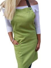 Gasoil Fashion nešpinivá zástěra jarní zelená barva poutka: hnědá