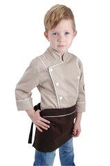 Gasoil Fashion dětská zástěra do pasu s dutinkou barva dutinky: Bílá, barva zástěry: tmavě šedá, velikost dětských zástěr: 3-5 let