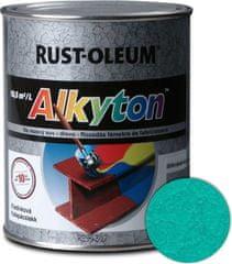 Alkyton  kladivková zelená svetlá 750ml - samozákladový email na kov, drevo a betón