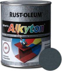 Alkyton  kladivková čierna 250ml - samozákladový email na kov, drevo a betón