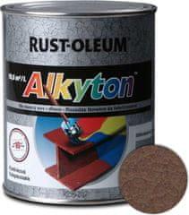 Alkyton  kladivková hnedá 250ml - samozákladový email na kov, drevo a betón