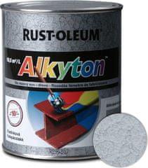 Alkyton  kladivková striebrošedá 250ml - samozákladový email na kov, drevo a betón