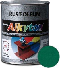 Alkyton  kladivková zelená tmavá 250ml - samozákladový email na kov, drevo a betón