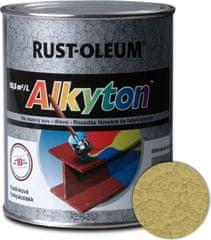 Alkyton  kladivková zlatá 750ml - samozákladový email na kov, drevo a betón