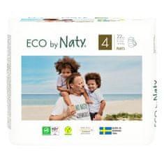ECO by Naty Natahovací plenkové kalhotky 4 Maxi (8-15 kg) 22 ks