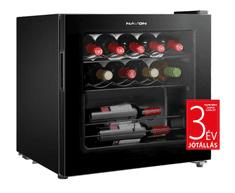 Navon vino 14 borhűtő, fekete, süllyesztett fogantyú