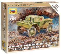 Zvezda British Armored Car Dingo 1/100