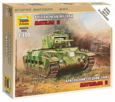 Zvezda British Tank Matilda II 1/100