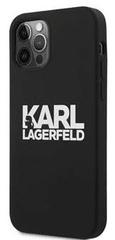 Karl Lagerfeld Stack White Logo Silikonový Kryt pro iPhone 12 mini 5.4 Black KLHCP12SSLKLRBK